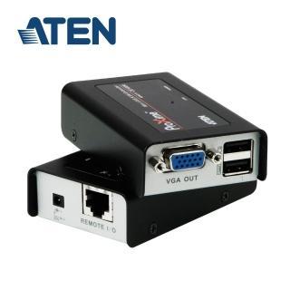 【ATEN】USB VGA Cat 5迷你型KVM延長器(CE100)