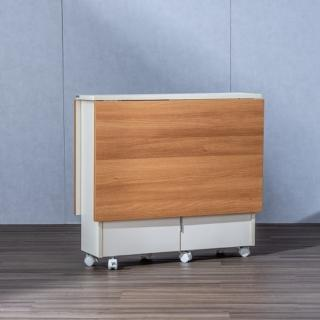 【hoi! 好好生活】DIY簡易伸縮可移動折疊餐桌1.2米wt043-8