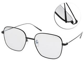 【PAUL HUEMAN】韓系質感方框款眼鏡(黑-淺白水銀#PHS918A 05)