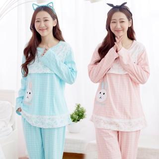 【IMACO】自然微甜哺乳棉質居家休閒衣褲(2套組)