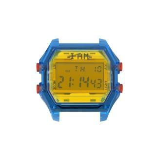 【XIAM】I AM 玩色新革命電子錶-藍殼黃錶盤_大(IAM-106)