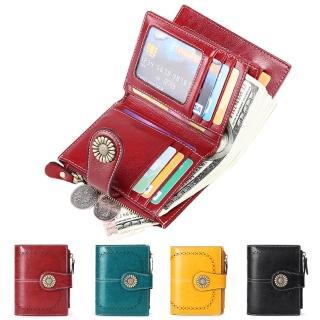 【玩皮工坊】真皮復古牛皮15卡位女士皮夾皮包錢包短夾女夾LH652(4色可選)