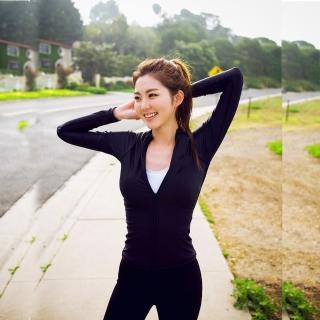 【狐狸姬】M-2L運動拉鍊長袖女運動外套-單外套(女生購買區)