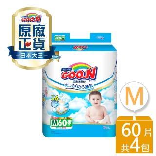 【日本大王GOO.N】輕薄舒爽黏貼型紙尿布M 60片X4串(共240片)