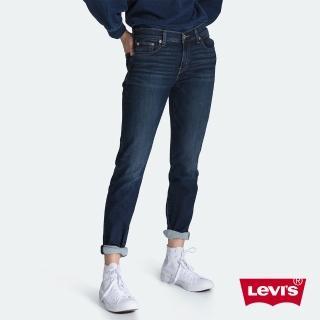 【LEVIS】男友褲 中腰寬鬆版牛仔褲 / 保暖纖維 / 內刷毛 / 彈性布料 / 及踝款-熱銷單品