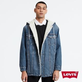 【LEVIS】男款 長版連帽牛仔外套 / Sherpa棉花絨-熱銷單品