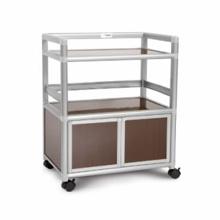 【Cabini 小飛象】黑桃木得意2.0尺鋁合金餐櫃64.7x50.8x83.6cm