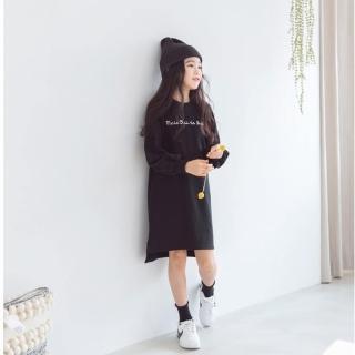 【橘魔法】印花長版衛衣(長版上衣 連衣裙 連身洋裝 衛衣 橘魔法 女童 連身裙)