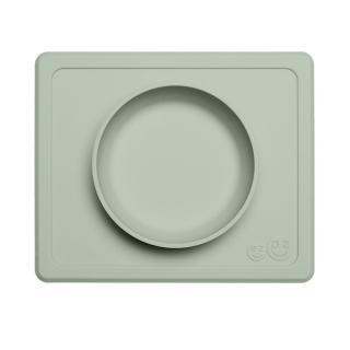 【美國ezpz】mini bowl迷你餐碗+餐墊:抹茶綠(FDA認證矽膠、防掀倒寶寶餐具)