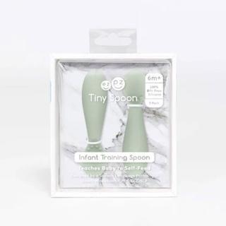 【美國ezpz】tiny spoon迷你湯匙: 抹茶綠(2入裝 FDA認證矽膠)