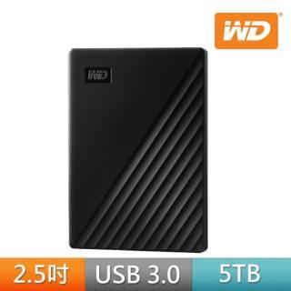 【WD 威騰】My Passport 5TB 2.5吋行動硬碟(黑/2019)