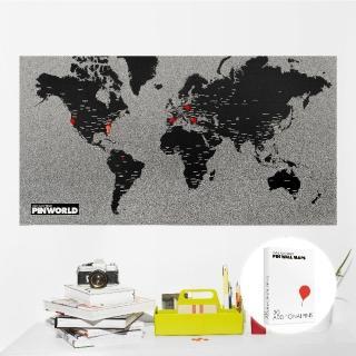 【palomar】拼世界地圖 黑色(圖針 30針裝)