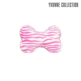【Yvonne Collection】斑馬紋車用骨頭頸部抱枕(粉紅)