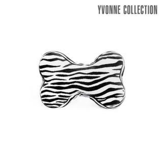 【Yvonne Collection】斑馬紋車用骨頭頸部抱枕(黑)