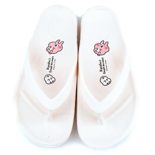 【童鞋城堡】卡娜赫拉 成人款 一體成型輕量夾腳拖(KI0588-白)