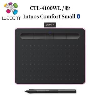 【Wacom】含滑鼠+鼠墊★Intuos Comfort Small 藍牙繪圖板-莓果粉(CTL-4100WL/P0-MO)