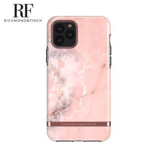 【Richmond&Finch】瑞典手機殼 大理石紋玫瑰金線框 - 玫瑰粉(iPhone 11 Pro Max 6.5吋)