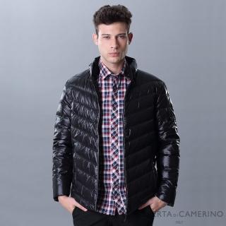 【ROBERTA 諾貝達】禦寒保暖 羽絨舒服夾克外套(黑色)