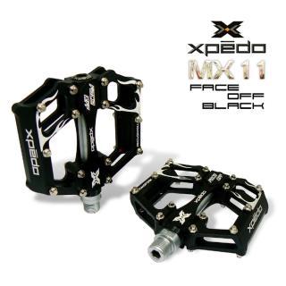 【XPEDO MX11】輕量自行車大面板腳踏(黑)