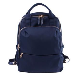 【DF Queenin】日系名媛氣質素色款防潑水防盜後背包-共3色