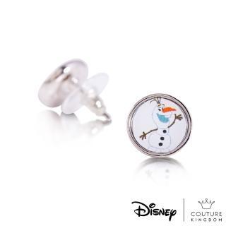 【Disney Jewellery】迪士尼 Couture Kingdom 冰雪奇緣2 雪寶錢幣鍍14K白金耳釘