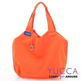 【YUCCA】防潑水尼龍側/肩背包-橘色(D0060013099)