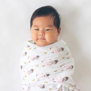 【美國Nuroo】三階段成長型包巾:粉紅天鵝(絕佳的包覆性 讓寶寶安穩入睡)