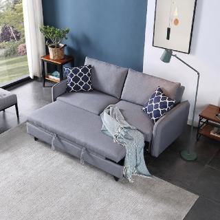 【FL 滿屋生活】FL Hello Sofa Bed - 機能性布面沙發床(實木沙發床/客房首選/熱銷款)
