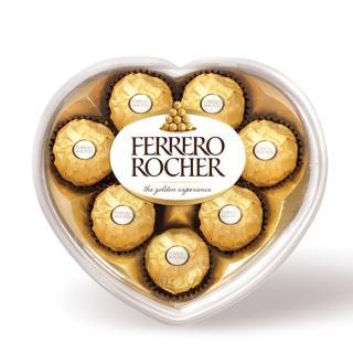 【金莎】巧克力心形禮盒(8粒裝)