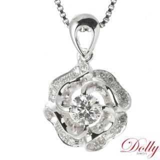 【DOLLY】天然鑽石 0.30克拉完美車工 14K金鑽石項鍊(043)
