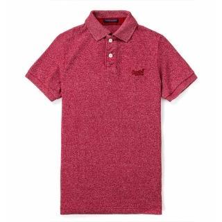 【Superdry】極度乾燥 男 短袖Polo衫 雪花紅 全新現貨官網購入(POLO 極度乾燥)