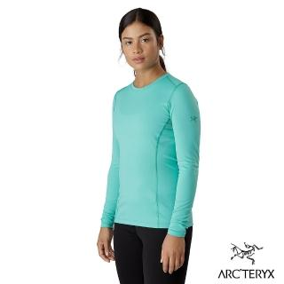 【Arcteryx 始祖鳥】女 Phase AR 保暖內層圓領衫(深夜光綠)