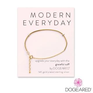 【Dogeared】Modern Everyday Graceful Cuff 微笑骨鍍金手鍊