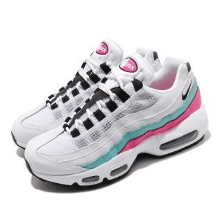 【NIKE 耐吉】休閒鞋 Air Max 95 運動 穿搭 女鞋 經典款 氣墊 避震 反光 球鞋 白 黑 彩(307960-117)