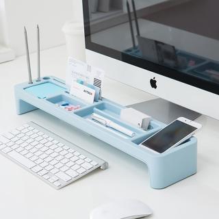 【LITEM 里特】桌上文具鍵盤收納架 /薄荷藍(鍵盤架/文具收納/置物架/電腦架/桌上收納架)
