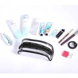 【TD 樂活】簡約透明PVC 旅行收納包 化妝包 洗漱包(小號)
