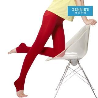 【Gennies 奇妮】超值*時尚彈性厚棉孕婦專用踩腳褲襪/九分褲襪(深灰/紅/深紫/黑GM34)