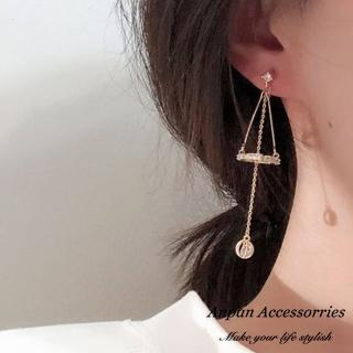 【Anpan】925銀針韓東大門IG立體鑽石水晶垂墜耳環
