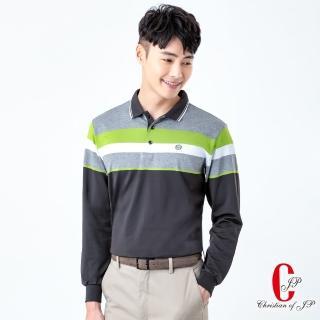 【JYI PIN 極品名店】紳士風格撞色條紋POLO衫_咖(PW830-78)