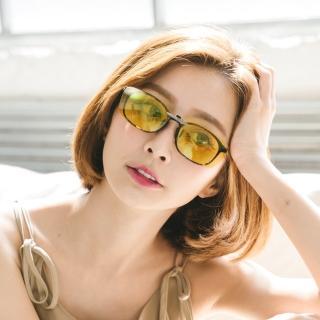 【ALEGANT】水仙黃鋁鎂合金夾式夜視防眩光偏光太陽眼鏡(UV400墨鏡/車用夾片/外掛夾式鏡片/太陽眼鏡夾片)