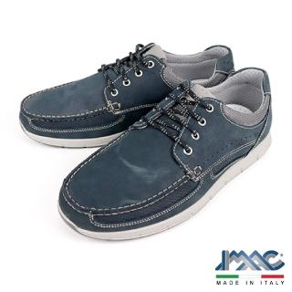 【IMAC】義大利經典素面綁帶休閒鞋(藍色 302210-BLU)