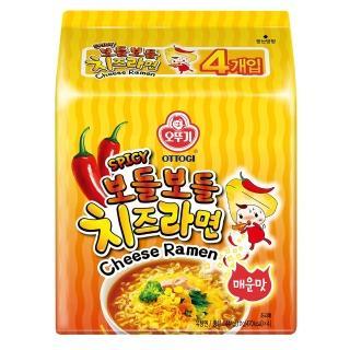 【韓國不倒翁OTTOGI】辣起司風味拉麵(111g*4)