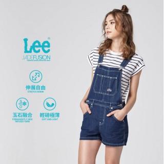 【Lee】牛仔吊帶短褲  女款 藍(女吊帶短褲)