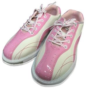 【DJ80嚴選】LANEWOLF 仿真皮女用高級保齡球鞋-右手鞋(粉白色)