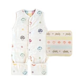 【Hoppetta】MOMO獨家 蘑菇六層紗成長睡褲貼紙組