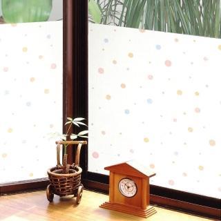 【meiwa】日本製造抗UV節能靜電窗貼(和風彩球- 92x200公分)