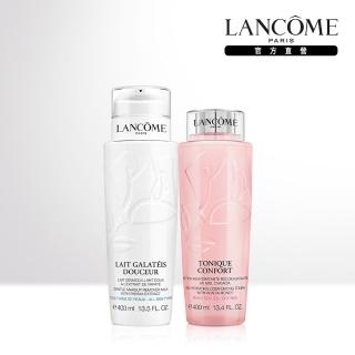 【LANCOME 蘭蔻】補水保濕卸妝套裝組(溫和保濕水400ml+清柔卸妝乳400ml)