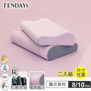 【TENDAYS】升級版-玩色柔眠枕 薰衣紫 2入(記憶枕 8cm/10cm 記憶枕)