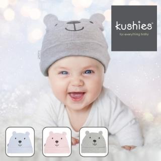 【kushies】柔軟彈性可愛造型嬰兒帽(小白熊/小灰熊/小黑熊)