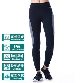 【VOUX】女撞色拼接壓力長褲(S-XL)
